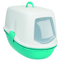 Bac à litière Berto top système de tri des déchets 39x42x59cm turquoise/blanc