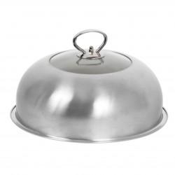 Cloche cuisson vitrée inox