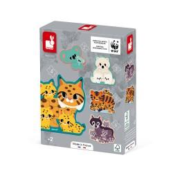 5 puzzles evolutifs animaux