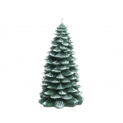 Bougie cire sapin floq...