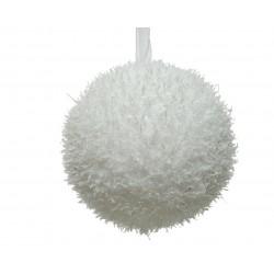 Boule flocon mousse ø8 blanc